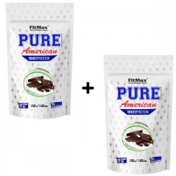 FITMAX PURE AMERICAN WHEY PROTEIN 750 GRAM CHOCOLATE (BUNDLE X 2 BAGS)